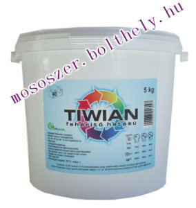 TIWIAN fehérítő hatású mosópor 5 kg-os vödrös