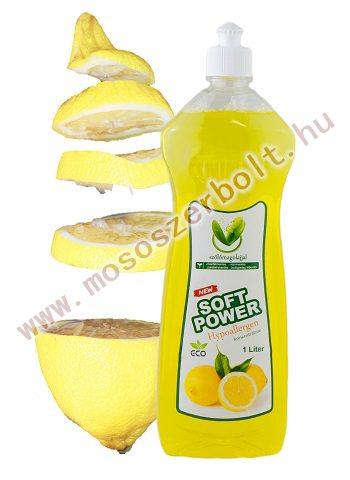 Soft Power mosogatószer koncentrátum 1 l  citrom illattal