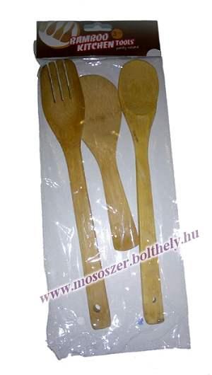 Bambusz fakanál szett 3 darabos