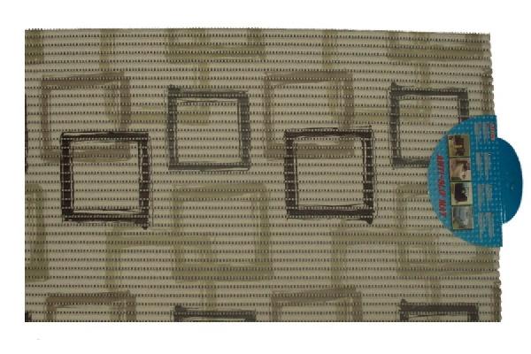 Fürdőszobaszőnyeg, kád kilépő 40X65 cm négyzetmintás